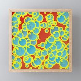 Blue bubbles Framed Mini Art Print