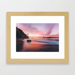 Washed-up Treasure Chest at Kirby Cove - San Francisco, California Framed Art Print