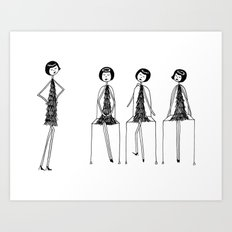 Eloise was never very good at musical chairs Art Print