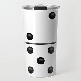 White Domino / Domino Blanco Travel Mug