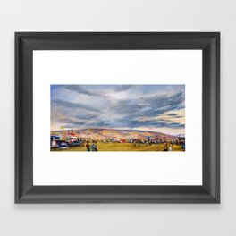 Camping at the Gorge Framed Art Print