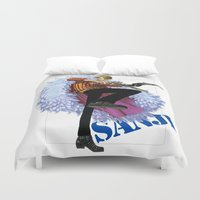 luffy Duvet Covers featuring Sanji Blackleg by Borsalino