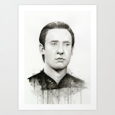Data TNG Portrait Art Print