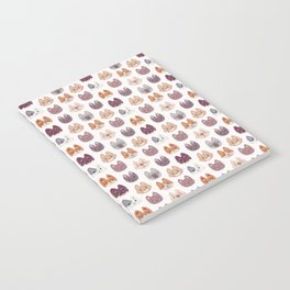 Cute Kitty Cat Faces Pattern Notebook