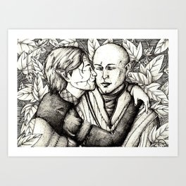 Elves and elfroot Art Print