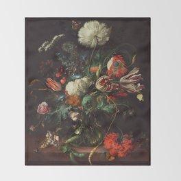 Jan Davidsz de Heem - Vase of Flowers Throw Blanket