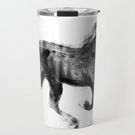 Horse (Friesian Colt) Travel Mug