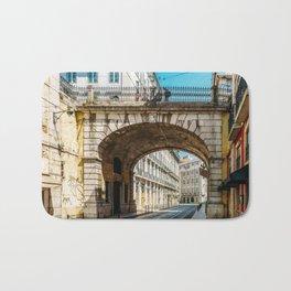 Beautiful Streets Downtown Lisbon City, Wall Art Print, Modern Architecture Art, Poster Decor Bath Mat