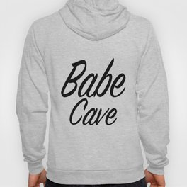 Babe Cave - White and Black Hoody