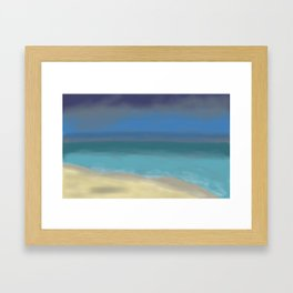 Sea after the Rain Seascape Painting Framed Art Print