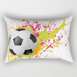 Football design with colorful splashes Rectangular Pillow