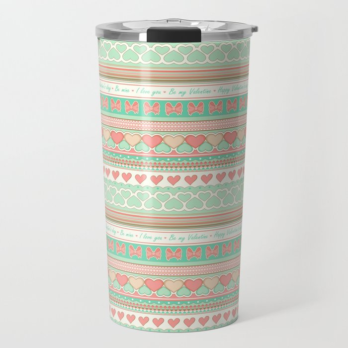 Love(ly) pattern Travel Mug