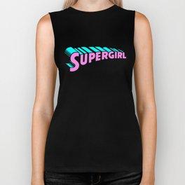 super girl supergirl sticker fun love cute 2018 hot superman Biker Tank