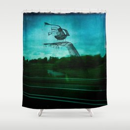 Road Owl Shower Curtain
