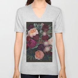 Dark florals Unisex V-Neck