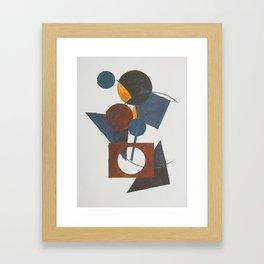 Constructivistic painting Framed Art Print