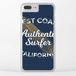 West coast California Surf Clear iPhone Case