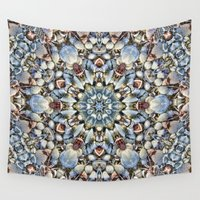 seashell Wall Tapestries featuring Seashell Kaleidoscope by Cindi Ressler Photography