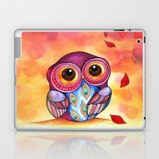 Owl's First Fall Leaf Laptop & iPad Skin
