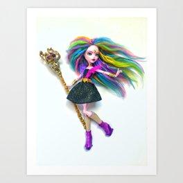 Summoner Rainbow Doll Art Print