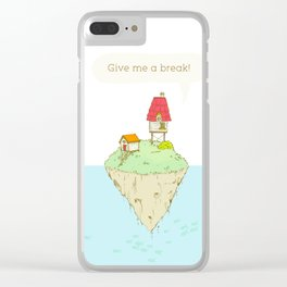 Give me a break Clear iPhone Case