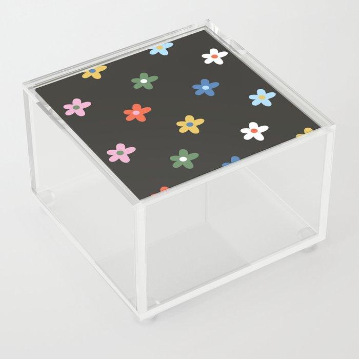 Flower Power -  Rainbow Acrylic Box