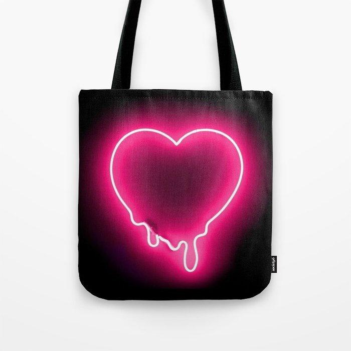 Heart (Neon) Tote Bag