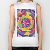 acid Biker Tanks featuring Acid Blossom by Eleaxart