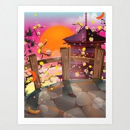 Japan garden Art Print