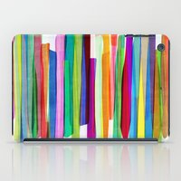 rug iPad Cases featuring Colorful Stripes 1 by Mareike Böhmer