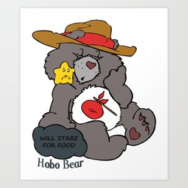 Hobo Bear Art Print