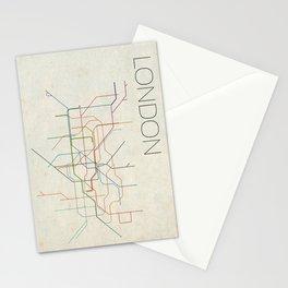 Minimal London Subway Map Stationery Cards