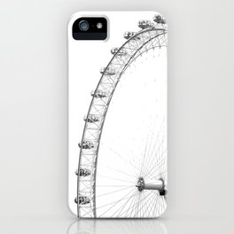 Ferris Wheel (Black and White) iPhone Case