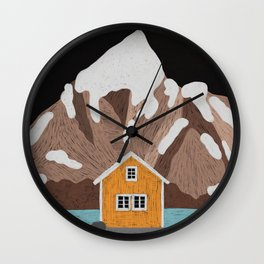 Somewhere in Iceland Wall Clock