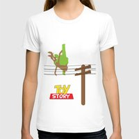toy story T-shirts featuring Toy Story - Falling With Style by Gary Wood