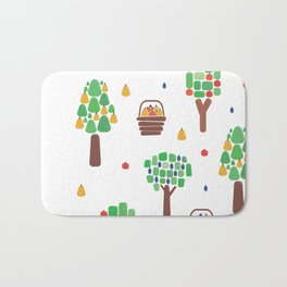 Orchard with autumn fruit Bath Mat