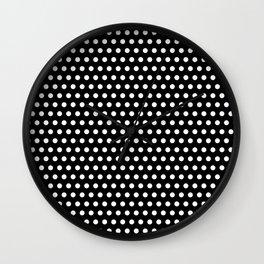 Polka / Dots - Black / White - Medium Wall Clock