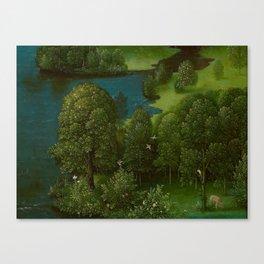 Joachim Patinir - Crossing the River Styx Medieval Fantasy Fairy Tale Landscape Canvas Print