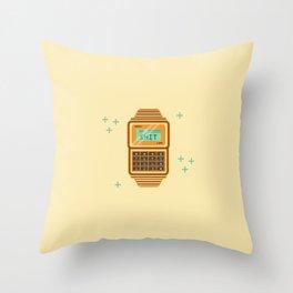 Casio calculator vector illustration Throw Pillow