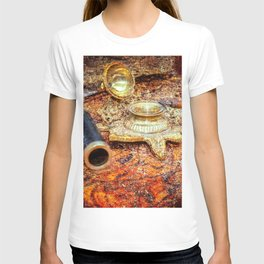 Vintage Looking Glass, Inkstand, Pen On A Map. Time To White A Story T-shirt