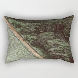 Tropical Amazon Rainforest Textured Trees Aerial Landscape Photo Rectangular Pillow