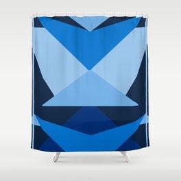 Geometric Blue Shower Curtain