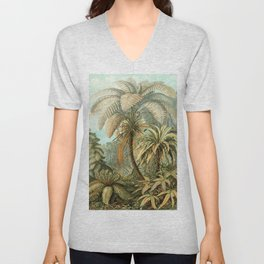 Vintage Tropical Palm Unisex V-Neck