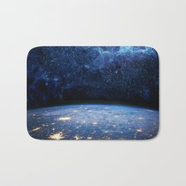 Earth and Galaxy Bath Mat