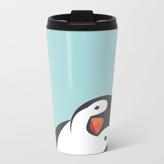 Penguin Metal Travel Mug