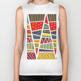 pyramids up and down Biker Tank