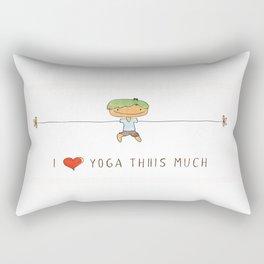 I love yoga boy Rectangular Pillow