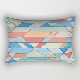 Triangle Pattern no.2 Colorful Rectangular Pillow