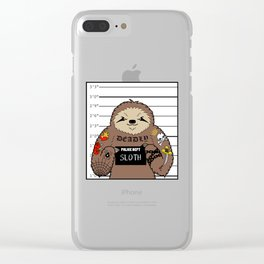 Prison Sloth Clear iPhone Case