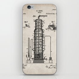 Whisky Patent - Whisky Still Art - Antique iPhone Skin